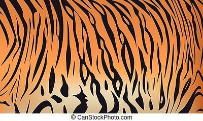 bengal tiger stripe pattern - Vector illustration of bengal...