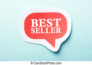 Best Seller speech bubble is isolated on the blue background...