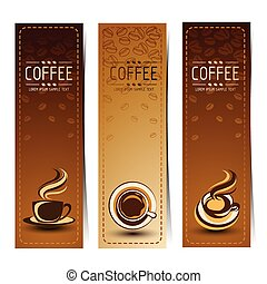 Coffee banner - Banner set of vintage coffee backgrounds....
