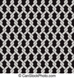 metallic grill weave texture with dark background, vector Illustration