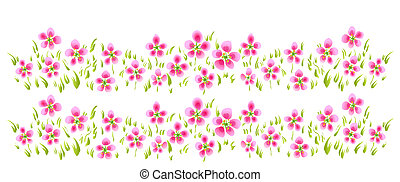 pink wild flower - drawing of pink wild flowers in a white...