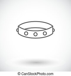Collar Single flat icon on white background Vector...