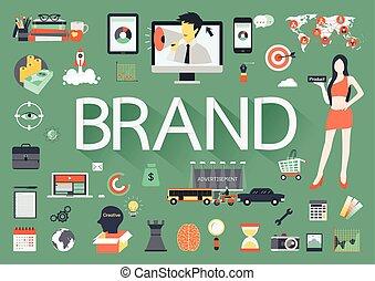 Brand flat