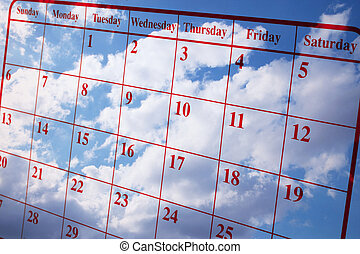 Calendar and Clouds - Composite of Calendar and Clouds