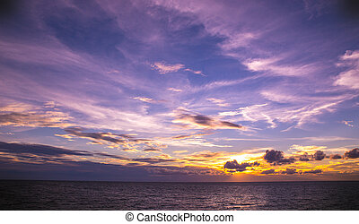 Beautiful sunset over the ocean. Natural composition.