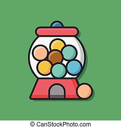 bubble gum machine icon