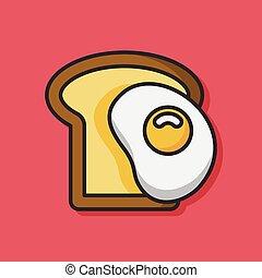 トースト, アイコン