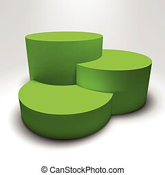 Infographic 3D pedestal with colorful columns - Infographic...
