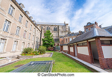 Neo-Gothic Benedictine palace in Fecamp, Normandy, France.