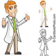 Scientist Cartoon Character