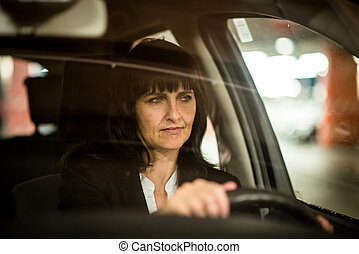 voiture, personne agee, femme,  Business, Conduite