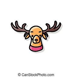 reindeer doodle
