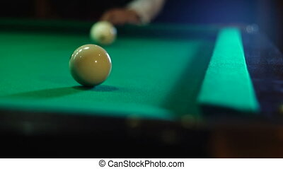 The ball flies into the pocket - Russian billiards, board...