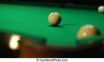 Detail of billiards - Russian billiards, board game on a...