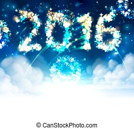 Fireworks 2016 Header - Sky fireworks 2016 New Year...