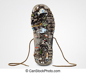 Sole of the Shoe with dirt
