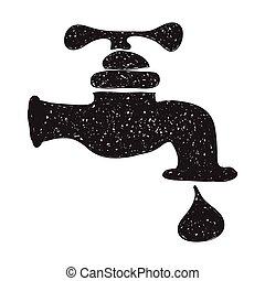 Simple doodle of a tap