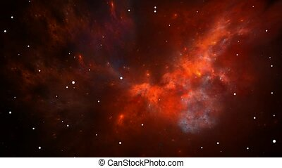 Flying through nebula and stars - Flying through nebula and...