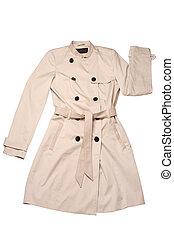 Women coat isolated on white background