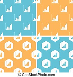 Graphic pattern set, colored - Graphic pattern set, simple...