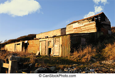 ramshackle buildings - Ramshackle huts and outhouses, now...