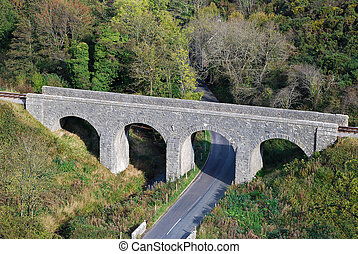 Railway bridge - An arched bridge carrying a single track...