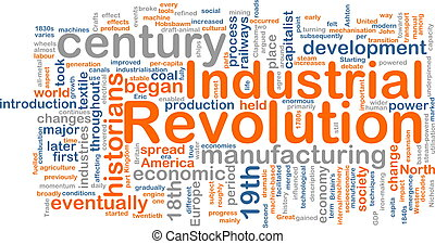 Industrial revolution word cloud - Word cloud concept...