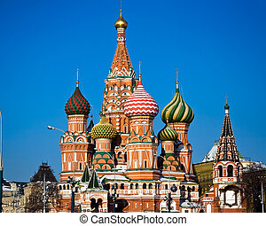 Moscow - St Basil Cathedral on Red Square, Moscow