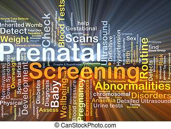 Prenatal screening background concept glowing - Background...