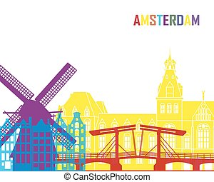 Amsterdam skyline pop
