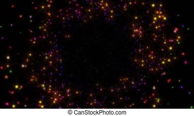 stars fly in space 4k