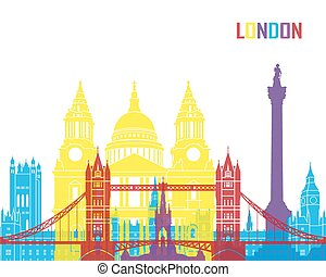 London skyline pop in editable vector file