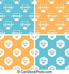 Sitemap pattern set, colored - Sitemap pattern set, simple...