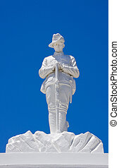 Memorial for Australian soldier. - White war memorial for...
