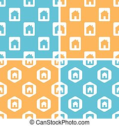 House plate pattern set, colored - House plate pattern set,...