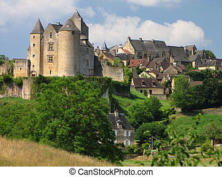Salignac, Castle, Village - At the border of Limousin and...
