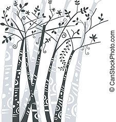 Extracto, diseño, árboles