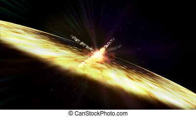 explosions in space