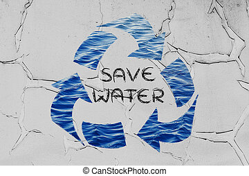 Save water recycle symbol - saving water and caring about...