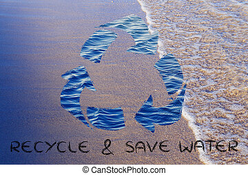 Recycle and save water - saving water and environmental...