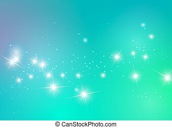 Abstract Stars Light Blue Background