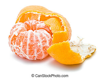 Mandarine - Fresh and juicy orange mandarine isolated on...
