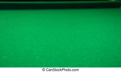 The initial position of the black ball