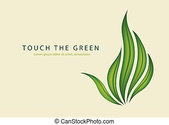 green leaves of grass as a gesture fuck off - touch the...