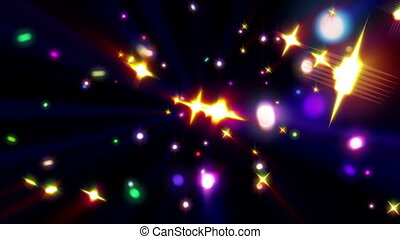 color stars ray explosion 4k