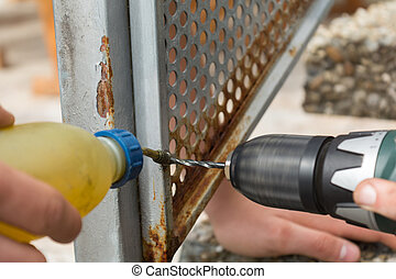 Metal bore for rust damage - Drill with carbide burs and...