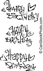 happy birthday wish cut out liquid