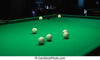 Rolling balls on a billiard field