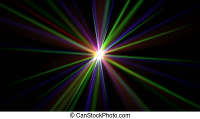 color ray laser abstract