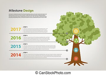 milestone and timeline infographic vector eps10 progress and...